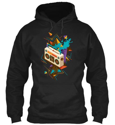 Music Radio Black T-Shirt Front