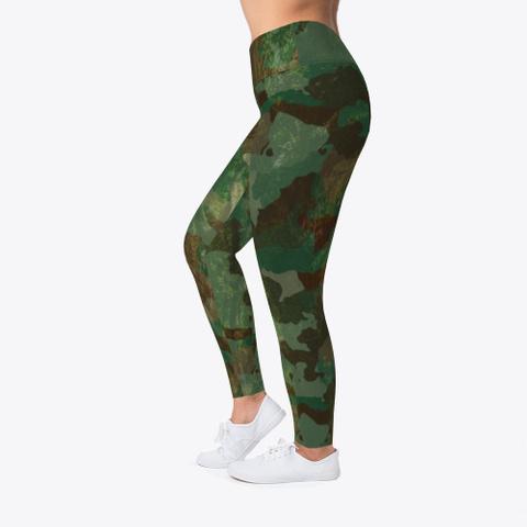 Woodland Camo Leggings Standard T-Shirt Left