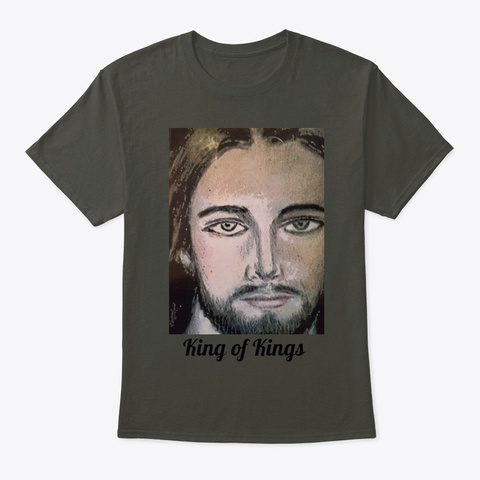 The King Of Kings Smoke Gray T-Shirt Front