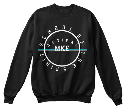 Revival Mke Sweatshirt Black T-Shirt Front