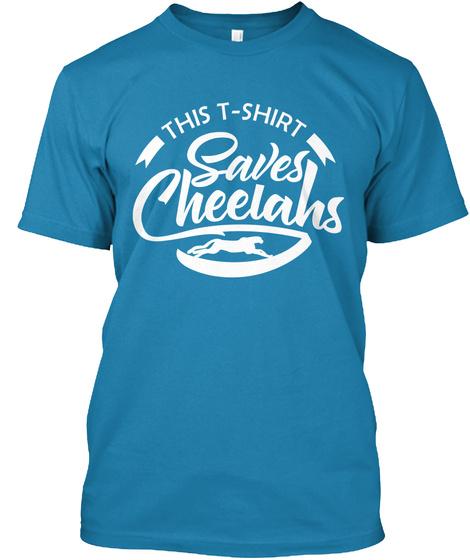 This T Shirt Saves Cheelahs Azure T-Shirt Front