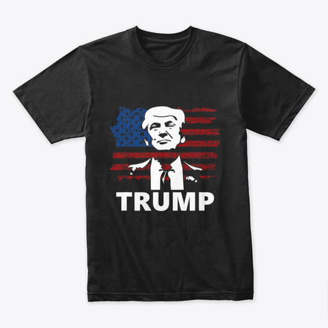 Trump Usa Black T-Shirt Front