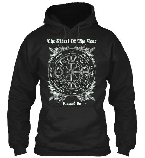 The Wheel Of The Year 2016 Blessed Be  Black T-Shirt Front