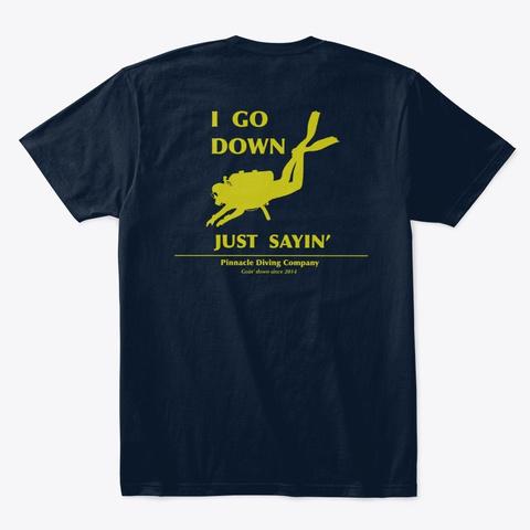 Pdc Go Down Men's Shirt New Navy T-Shirt Back