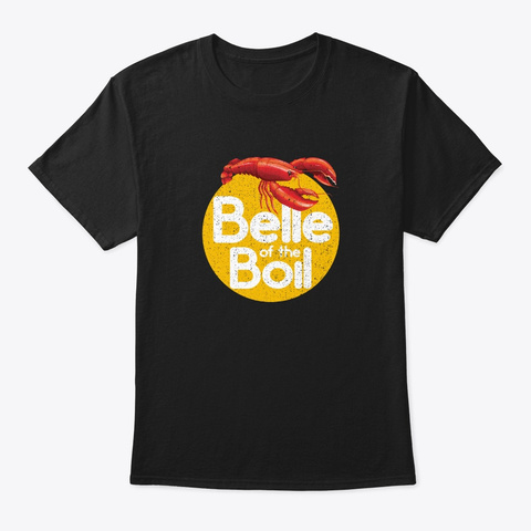Crawfish Belle Of The Boil Vintage Cloth Black T-Shirt Front