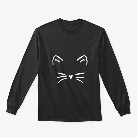 Cat Idpj7 Black T-Shirt Front