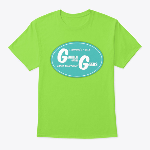 Garden Of The Geeks Logo Lime T-Shirt Front