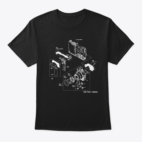 Camera Photography Film Photo Retro  Black T-Shirt Front