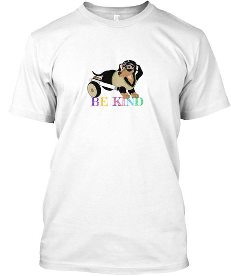Critter Kin Be Kind White T-Shirt Front