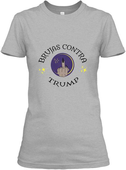 Brujas Contra Trump  Sport Grey T-Shirt Front