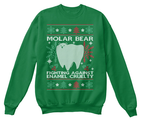 Molar Bear Fighting Against Cruelty Kelly Green  T-Shirt Front