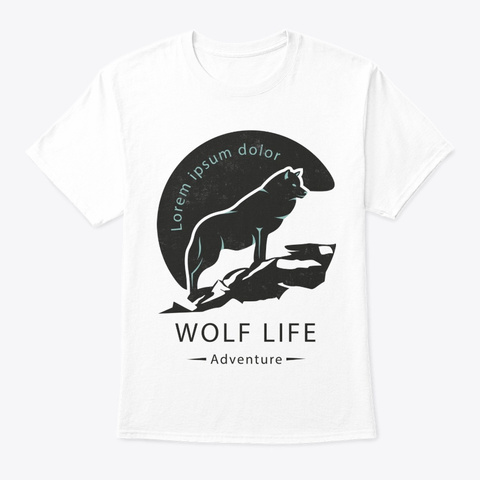Wolf Life White T-Shirt Front