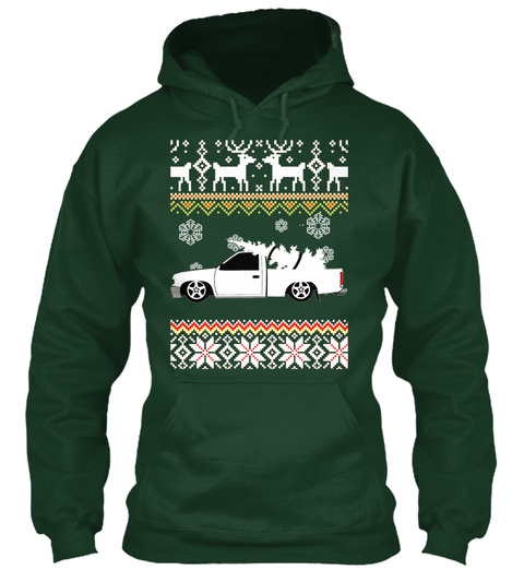 D21 Ugly Christmas Sweater Sweatshirt! Forest Green T-Shirt Front