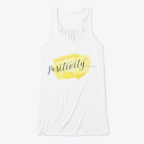 Positivity | Simply Happy White T-Shirt Front