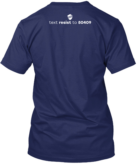 Text Resist To 50409 Navy T-Shirt Back