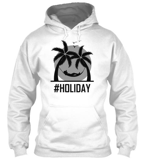 Holiday Urlaub Palm Tree Trip Nowork Tou White T-Shirt Front