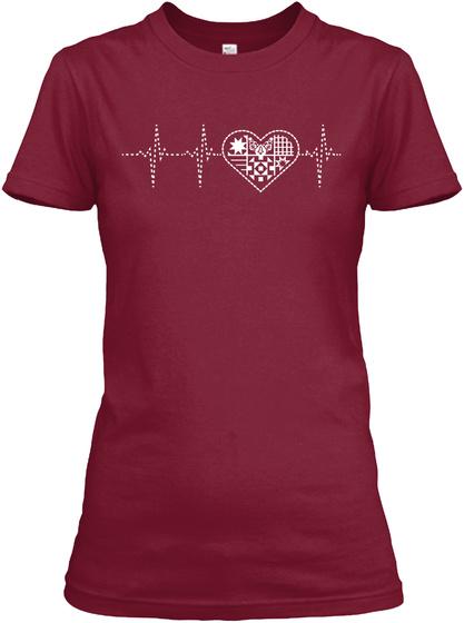 Quilting Heartbeat Cardinal Red Women's T-Shirt Front