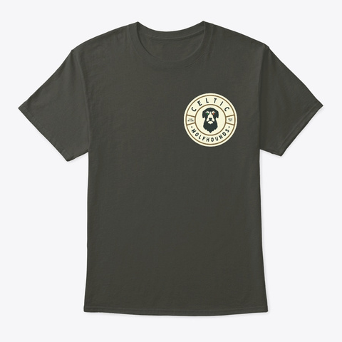 Celtic Wolfhounds Logo Comfortable Tee Smoke Gray T-Shirt Front