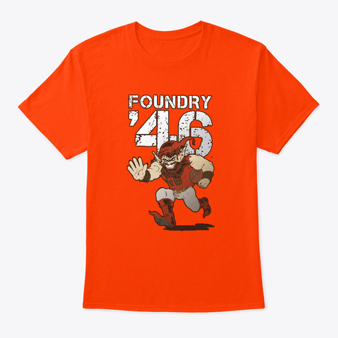 Foundry '46 Shirts And Hoodies Orange T-Shirt Front