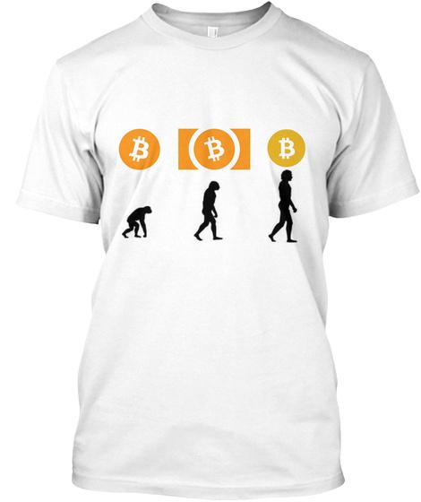 Bitcoin Evolution White T-Shirt Front