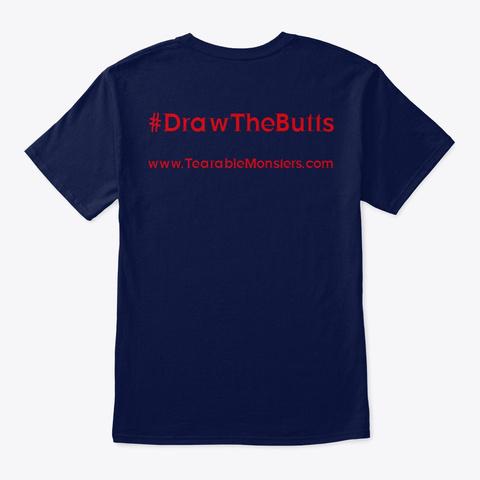 Tearable Monsters Wear Navy T-Shirt Back