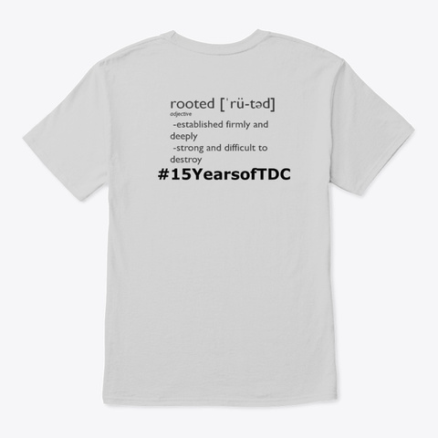 Rooted  2019 Tdc Recital Wear Light Steel T-Shirt Back