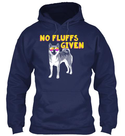No Fluffs Given Navy T-Shirt Front
