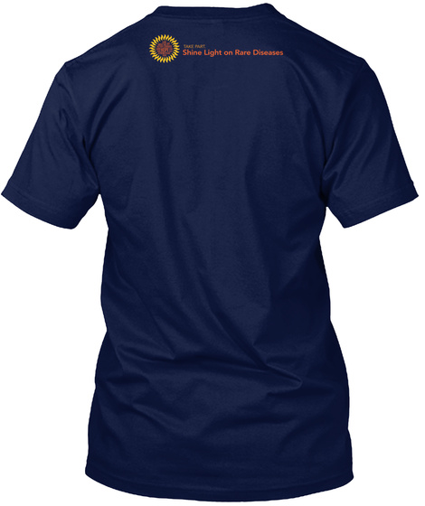 Shine Light On Rare Diseases Navy T-Shirt Back