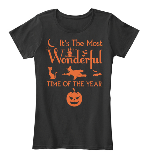 1971e1879 It's The Most Wonderful Time Of The Year Black Women's T-Shirt Front.  Halloween ...