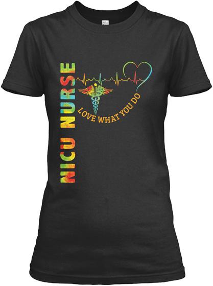 Awesome Nicu Nurse Shirt Black T-Shirt Front
