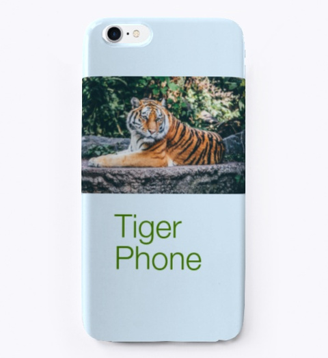 The Tiger Sticker Pale Blue T-Shirt Front