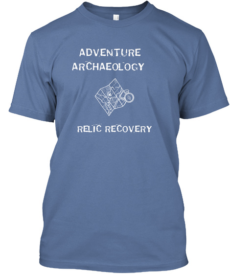 Adventure Archaeology Relic Recovery Denim Blue T-Shirt Front