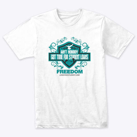 Freedom T Shirt Heather White T-Shirt Front