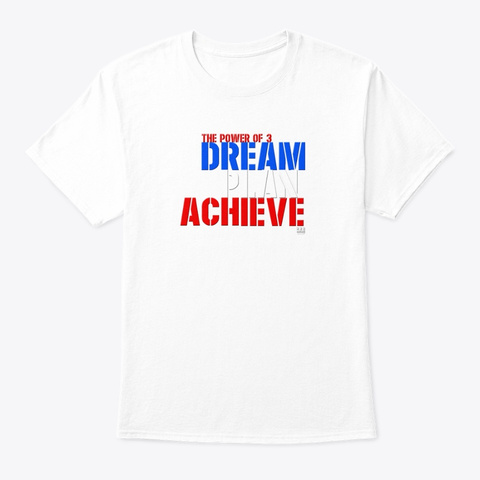 The Power Of 3 Puerto Rico White T-Shirt Front