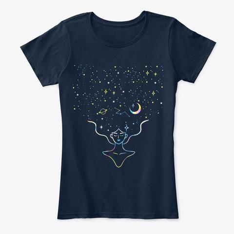 Art Meditation New Navy T-Shirt Front