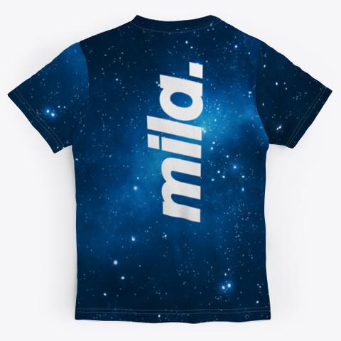 Spine Logo Galaxy Tee Unisex Black T-Shirt Back