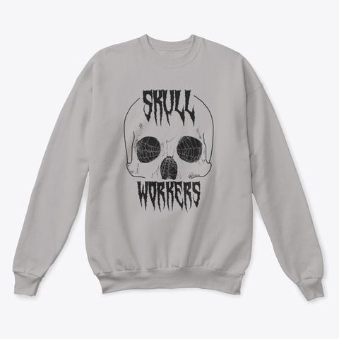 Skullworkers Inverted Sweatshirt Light Steel  T-Shirt Front