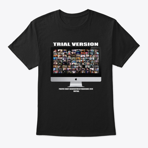 Official 2020 Pcam Apparel Black T-Shirt Front