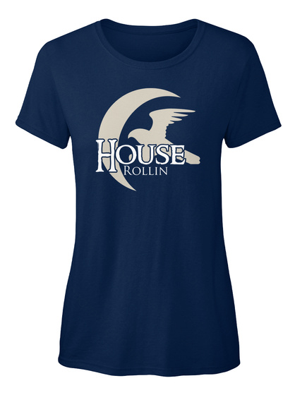 Rollin Family House   Eagle Navy T-Shirt Front