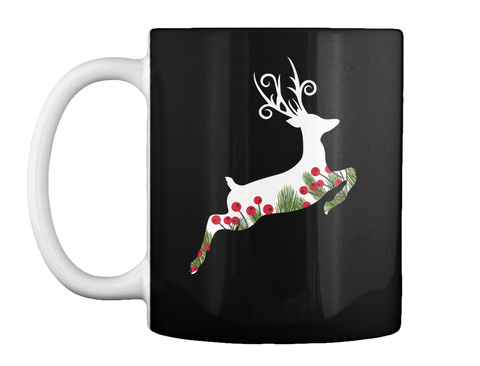Deer Mug Black T-Shirt Front