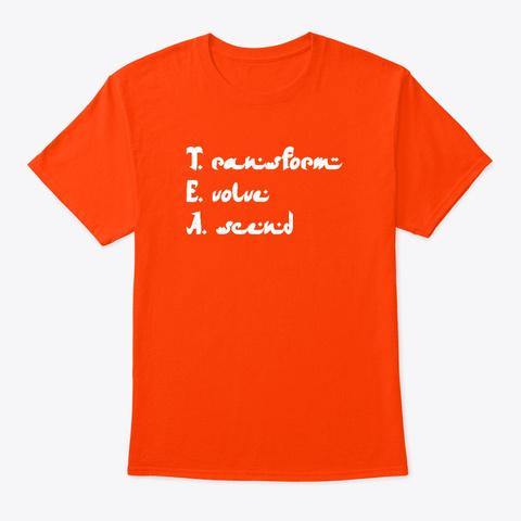 T. E A Orange T-Shirt Front