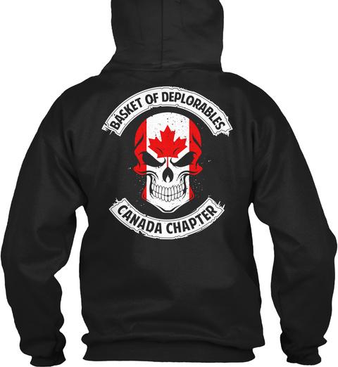 Basket Of Deplorable:Canada Chapter Black T-Shirt Back