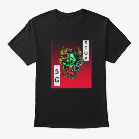 Stop 5 G Street Art Black T-Shirt Front
