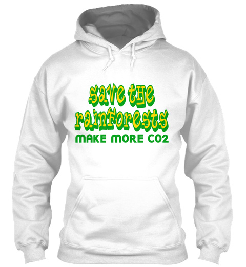 Orange Save The Rainforests Co2 T Shirts White T-Shirt Front