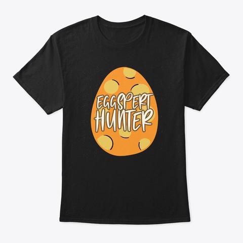 Easter Sunday Eggspert Hunter Cute Chris Black T-Shirt Front