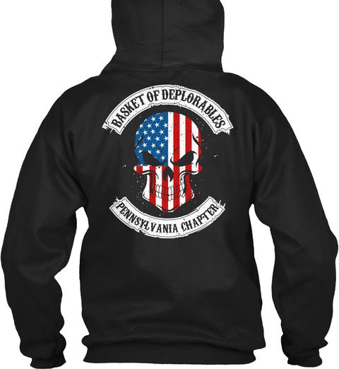Basket Of Deplorables Pennsylvania Chapter Black T-Shirt Back