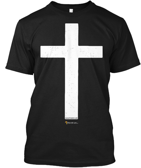 Crucified With Christ Black T-Shirt Front