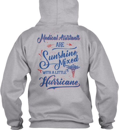 M As Are Sunshine Mixed With Hurricane Sport Grey T-Shirt Back