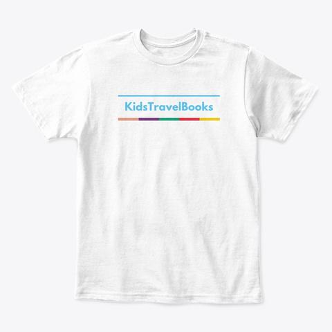 Kids Travel Books White T-Shirt Front