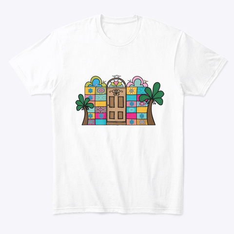Palm White T-Shirt Front